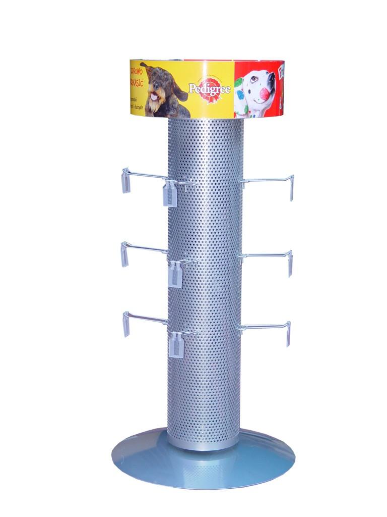 stojak reklamowy - obr z haczykami exp