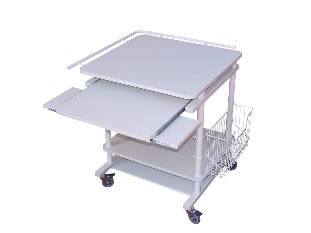stolik komputerowy z relingiem