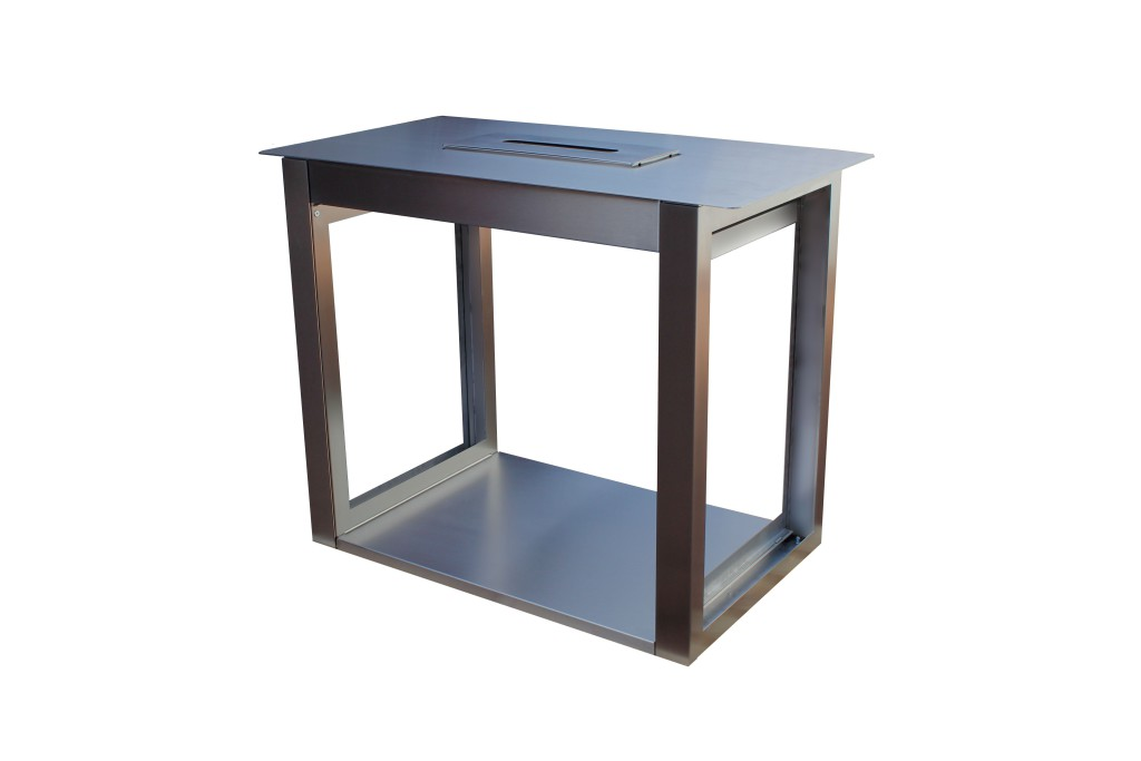 Stół pod reklamę podświetlaną